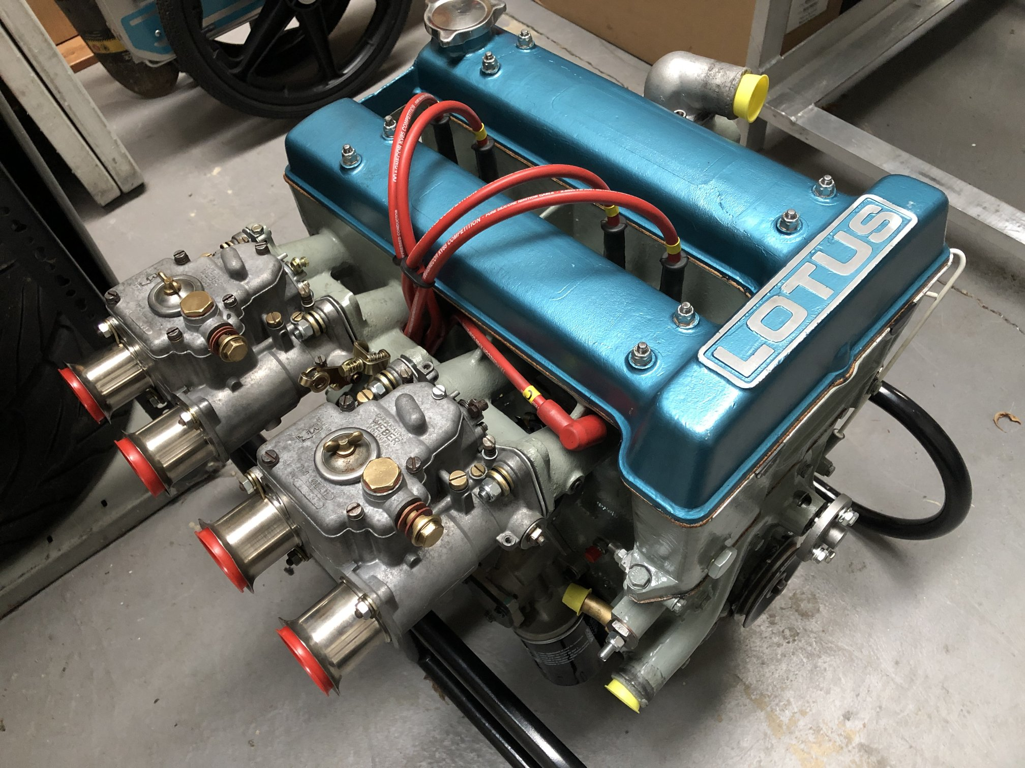 Lotus Twin Cam Engine with Forged Pistons Image